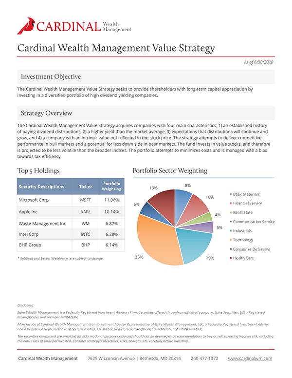 Value Strategy 6/30/20